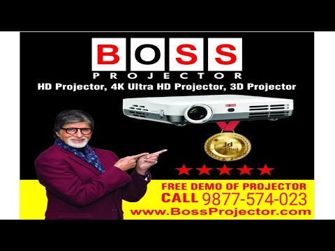 BOSS S11 Best Home Theatre LED Projector| FREE DEMO Of Best Projector| ULTRAHD 4K, 3D Projector
