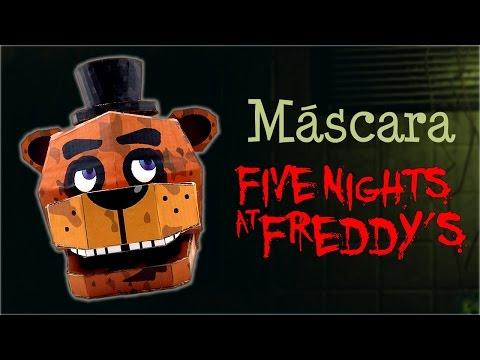 Máscara de Freddy de Five Nights at Freddy's, cómo se hace | Te Digo Cómo