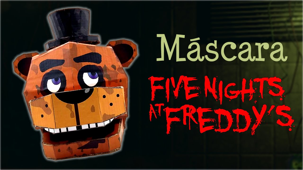 Freddy mask from five nights at freddy s how it s done youtube