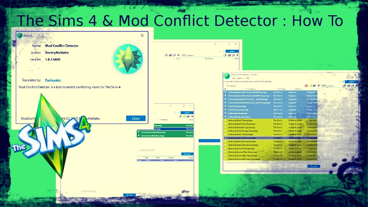 The Sims 4 & Mod Conflict Detector : How To