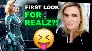Captain Marvel Suit FIRST LOOK Brie Larson REACTION
