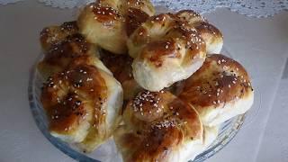 Очень простой рецепт турецких булочек!Мягкая и воздушная выпечка!