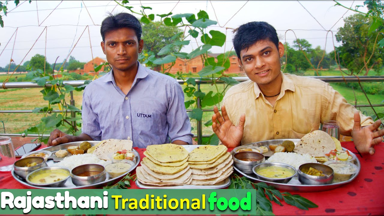 Rajasthani Traditional Food Thali Eating Challenge | Traditional Food Challenge | Food Challenge