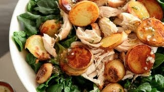 Spinach Salad with Chicken and Crispy Potatoes  Everyday Food with Sarah Carey
