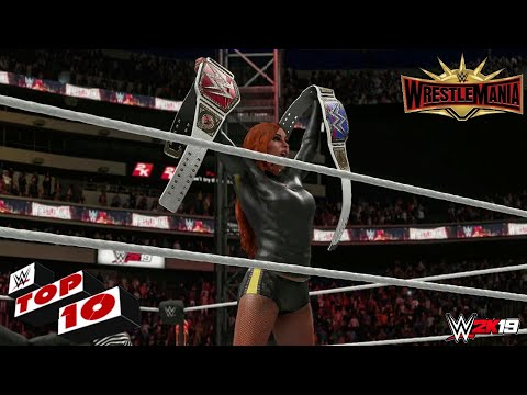 WWE 2K19 - Top 10 Wrestlemania 35 Moments!