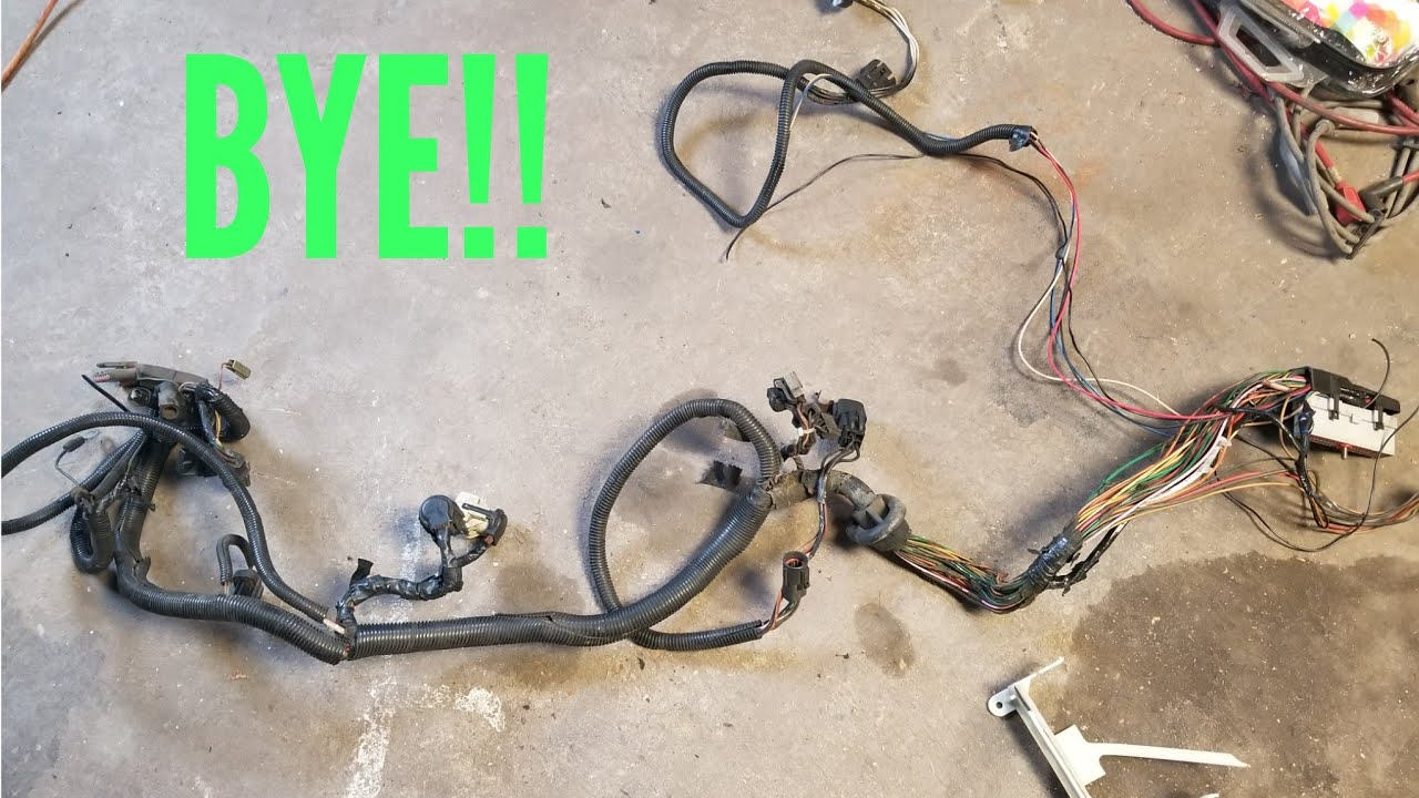 93 mustang to carb wiring harness how to remove foxbody wiring harness  youtube  how to remove foxbody wiring harness