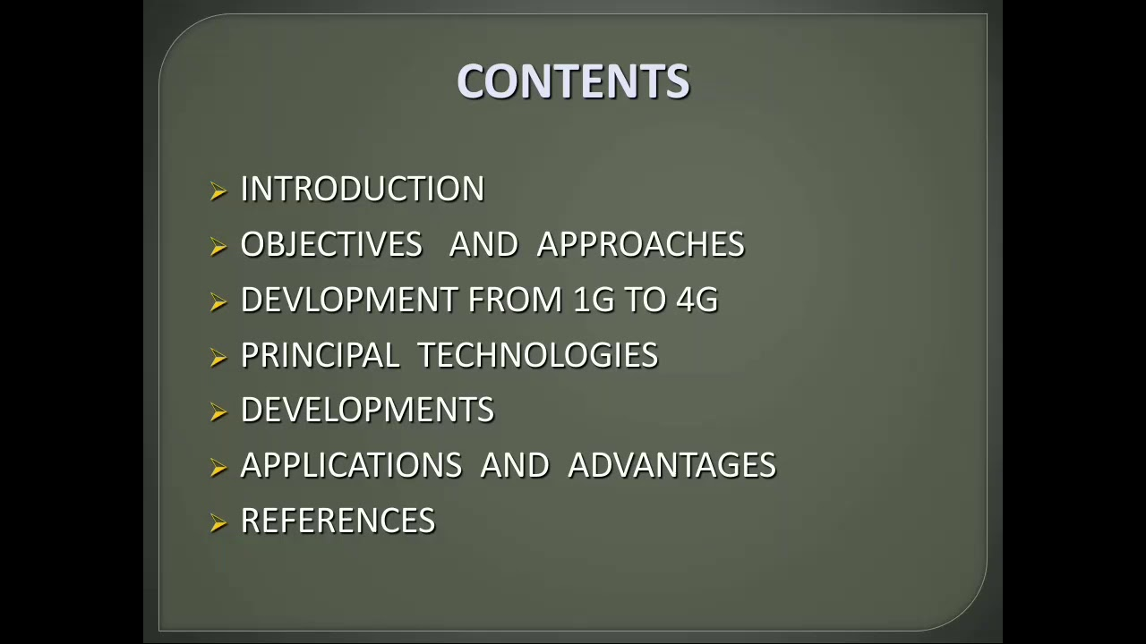 Powerpoint presentation on 4G technology (ppt)