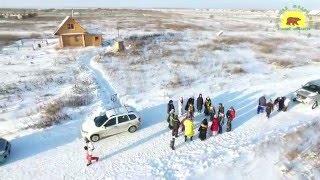 Чистка зимних дорог на УАЗ пикап патриот на Коляду в БМ