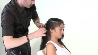 Вариация стрижки слоями на длинных волосах - видео-урок