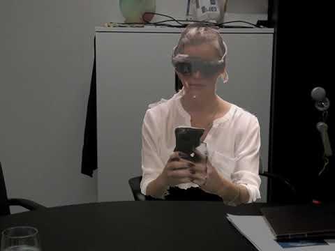 Mia exploring Magic Leap Headset at MIMESYS HQ in Belgium