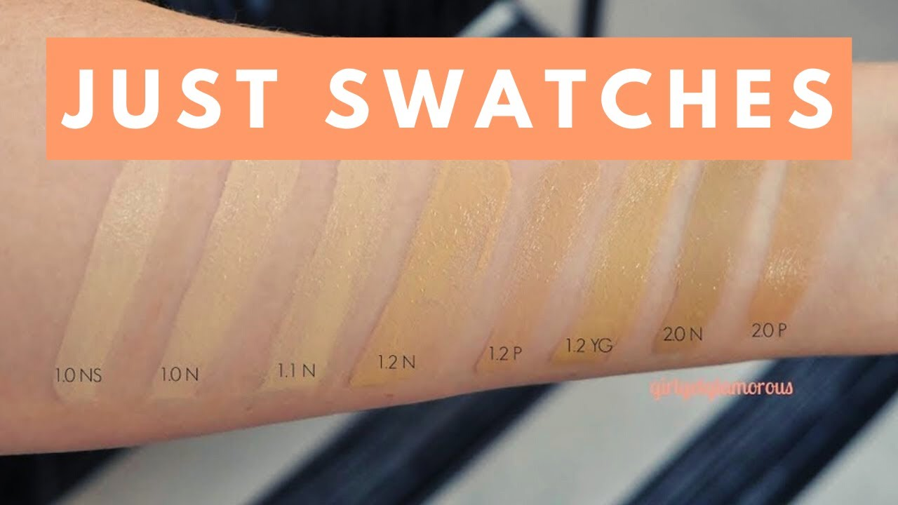 The Ordinary 7 Full Coverage Foundation Swatches Fair Light Shades Girlgetglamorous Youtube