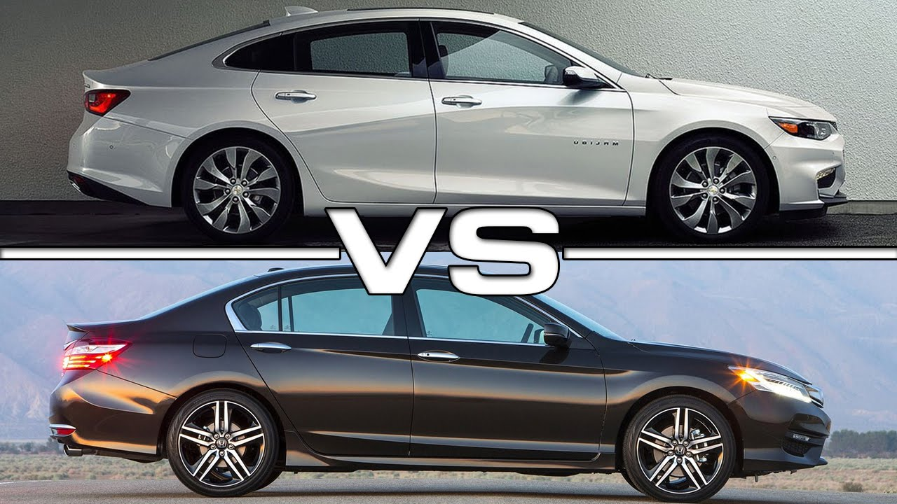 2016 chevrolet malibu vs 2016 honda accord youtube