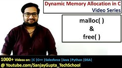 Use of malloc( ) and free( ) functions of DMA in c programming | by Sanjay Gupta