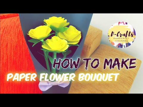How to Make a Paper Flower Bouquet! - D-Crafts Channel