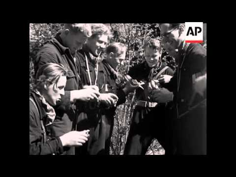 ALLIED OCCUPATION OF NORWAY - NO SOUND