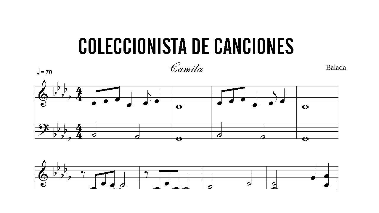 camila coleccionista de canciones acordes: