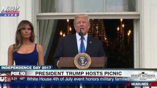 FULL: President Trump SPEECH at White House 4th of July Picnic for Military Families (FNN)