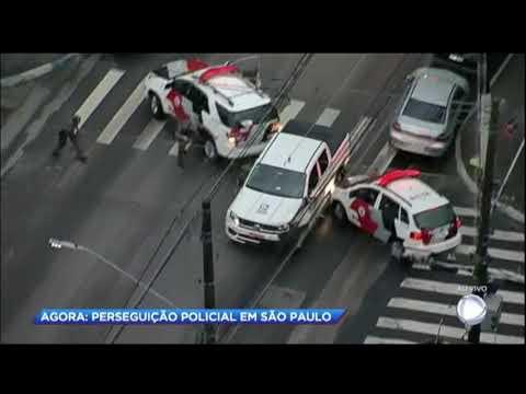 Criança é atropelada durante perseguição policial