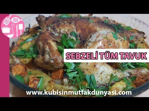 Sebzeli Tüm Tavuk Tarifi | Kübişin Mutfak Dünyası