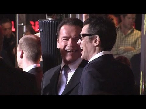 Arnold Schwarzenegger And Johnny Knoxville Arrive At 'The Last Stand' World Premiere