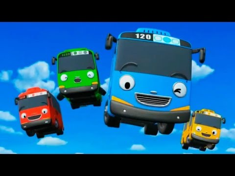 Мультик про машинки, ТАЙО маленький автобус с Друзьями 3 Cartoon Tayo Little Bus 꼬마버스 타요 주유소 차고지 장난감