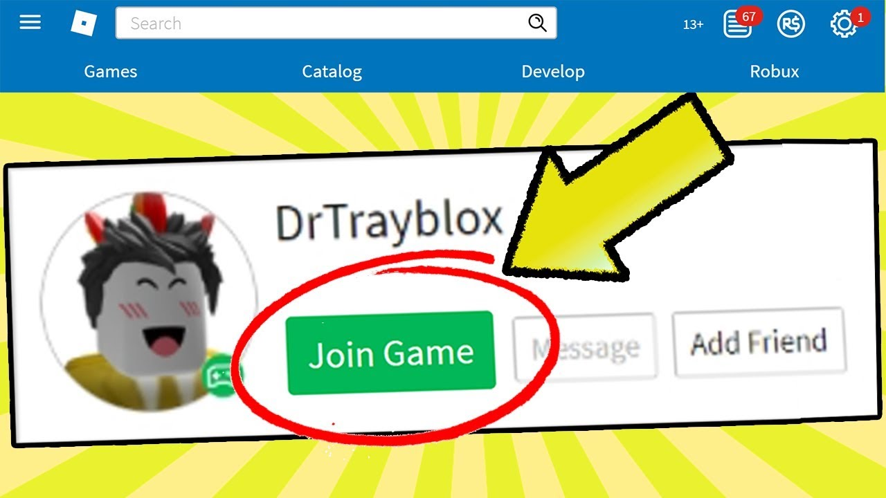 How To Join Any Youtuber S Roblox Game Youtube