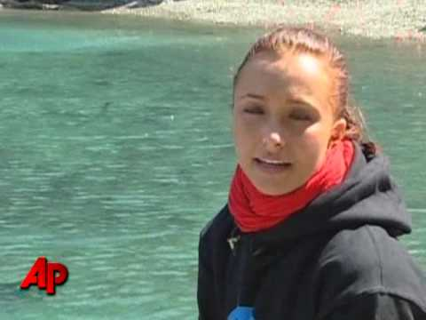 Raw Video:  'Heroes' Star Protests Dolphin Hunt