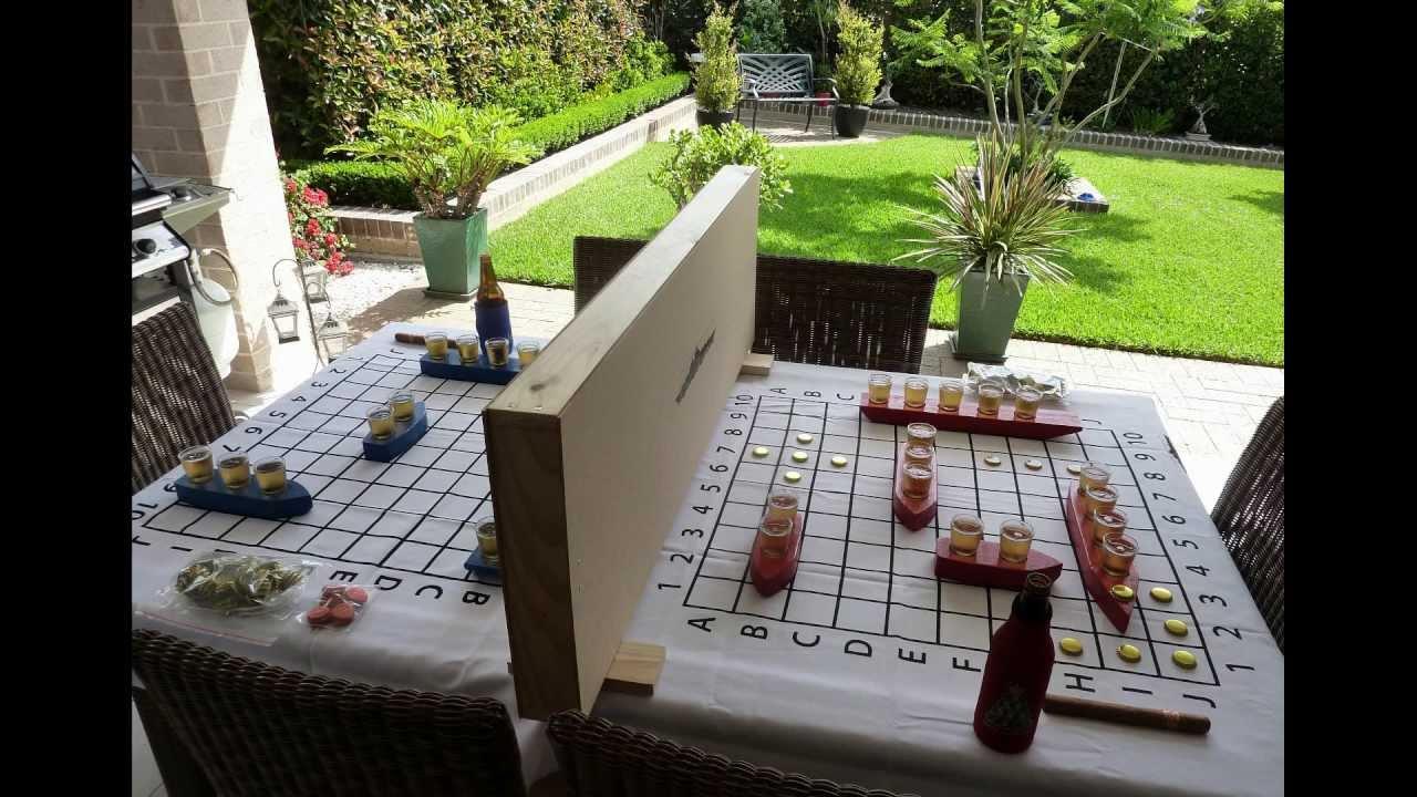 Backyard Drinking Games battleshots - epic drinking game - youtube