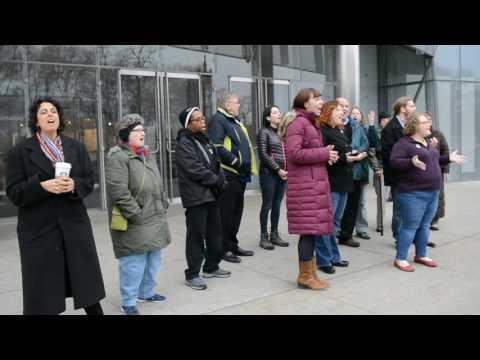 Meadville Lombard Theological School  Public  Faith Witness Flash Mob