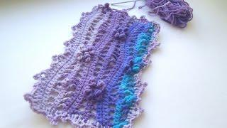 Как связать плед крючком.How to crochet plaid.