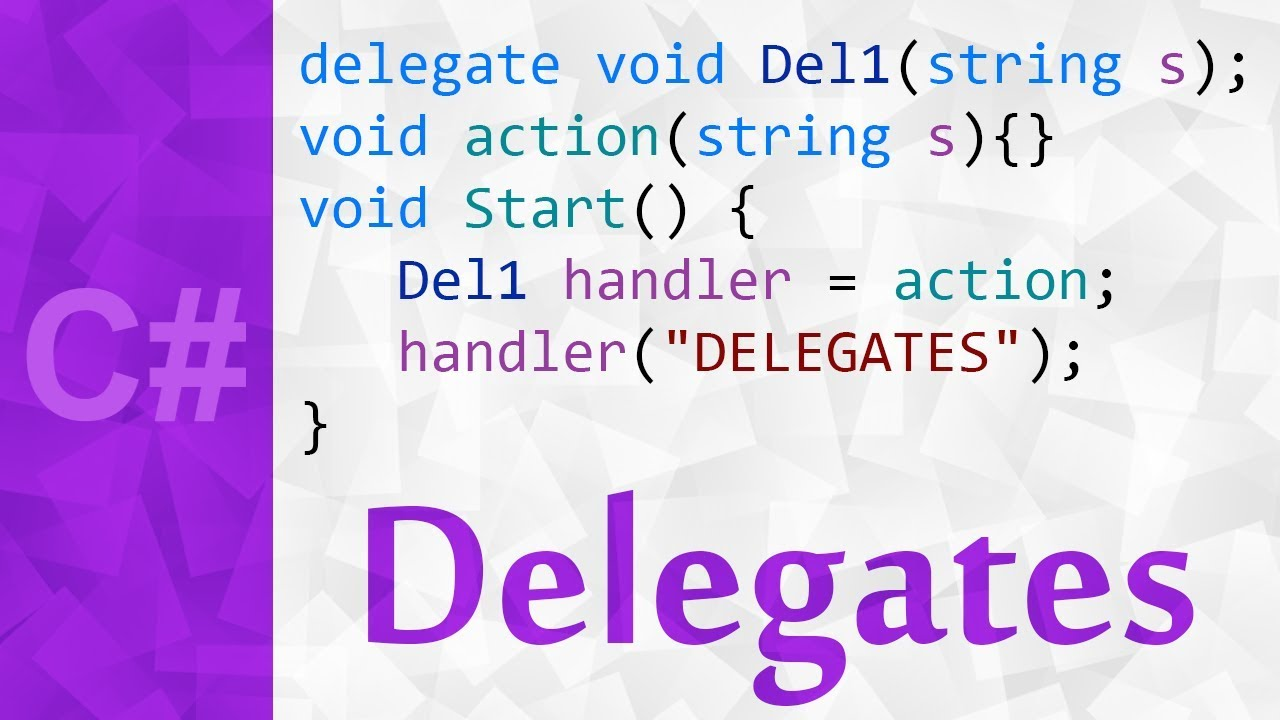 delegates in c# with examples 💻 delegate definition & tutorial in