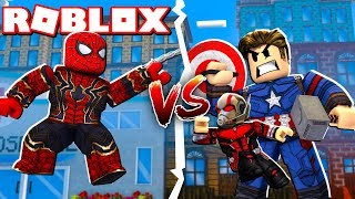 STRONGEST SPIDERMAN vs SUPER HEROES à ROBLOX