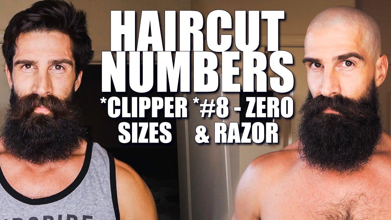 HAIRCUT NUMBERS - HAIR CLIPPER SIZES - HAIR CLIPPER GUIDE