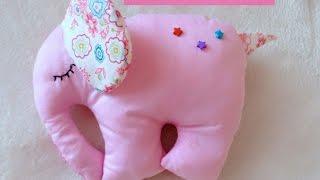 DIY Игрушка розовый слон своими руками. Мастер класс