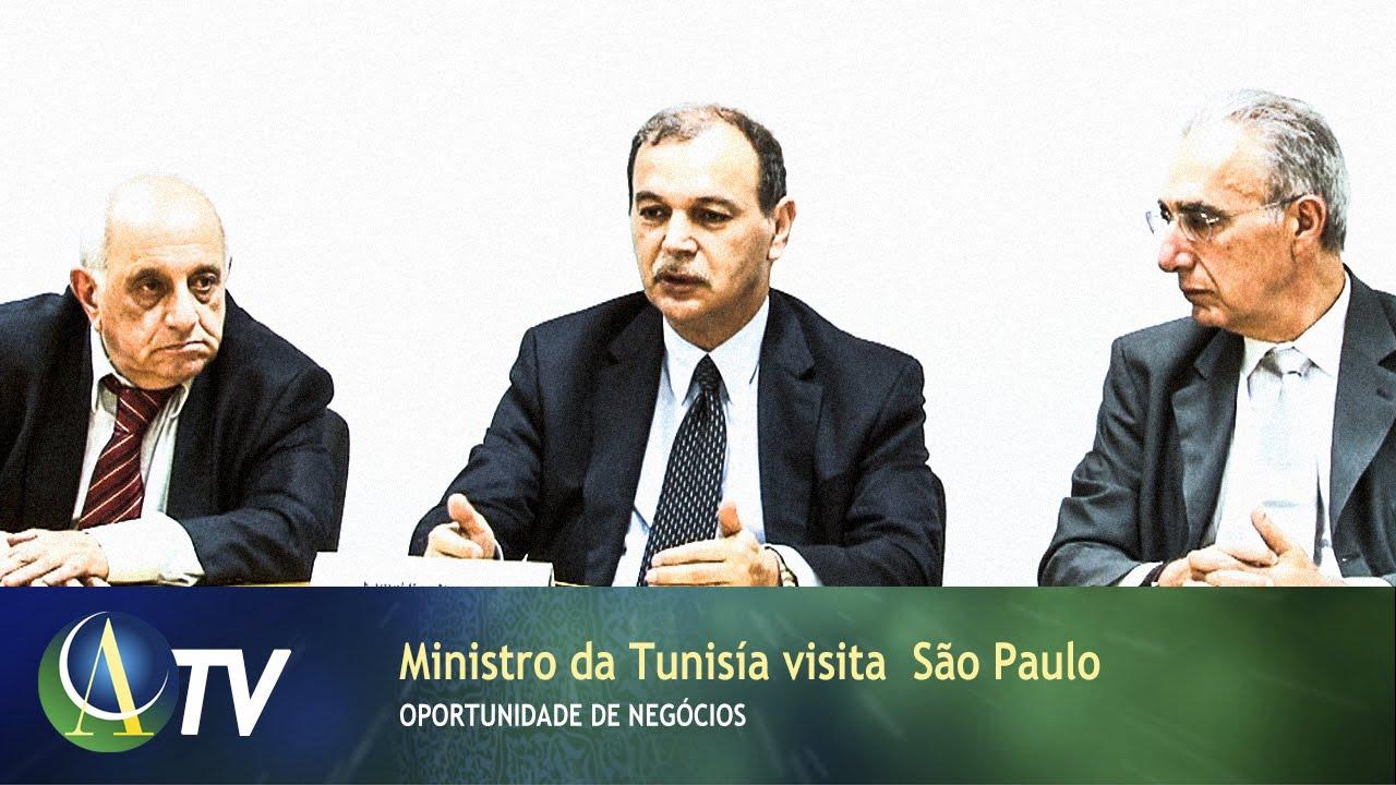 Ministro da Tunisía visita São Paulo  c7d9ecc144100