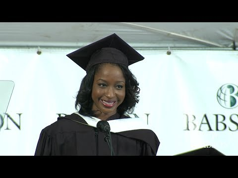 Joanne Louis '14 Speaks at the Inauguration of Babson College President Kerry Murphy Healey