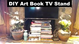 DIY Art Book TV Stand
