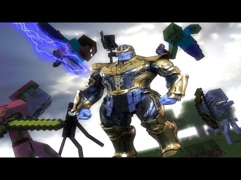 Monster School : Thanos Vs. Mobs - Minecraft Animation (Music Video)