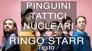 Pinguini Tattici Nucleari - Ringo Starr (Testo e Musica)