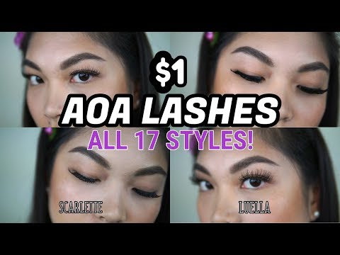 7efa41810bf $1 AOA STUDIO FALSE EYELASHES | SHOPMISSA | FULL TRY ON AND REVIEW - YouTube
