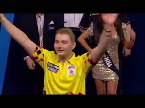 PDC World Darts Championship 2016 - Amazing Walk-on Dimitri van den Bergh!!!!!