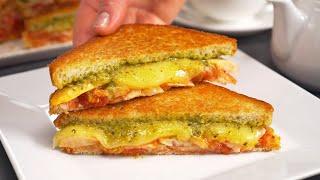 Знаменитые итальянские ПАНИНИ С КУРИЦЕЙ И СЫРОМ Идеальный горячий бутерброд Рецепт Всегда Вкусно