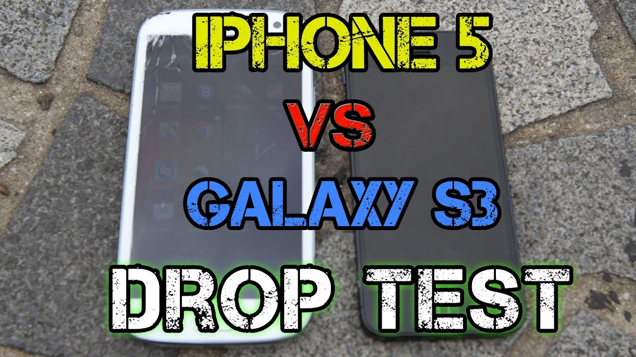 iphone drop test iphone 5 vs samsung galaxy s3 drop test doovi 11808