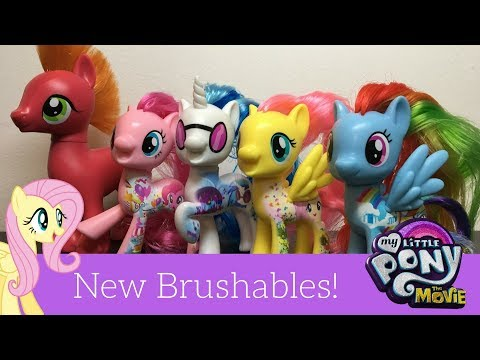 My Little Pony the MOVIE Brushables Big Mac, DJ Pon 3, Rainbow Dash, and More! All about Series Revi