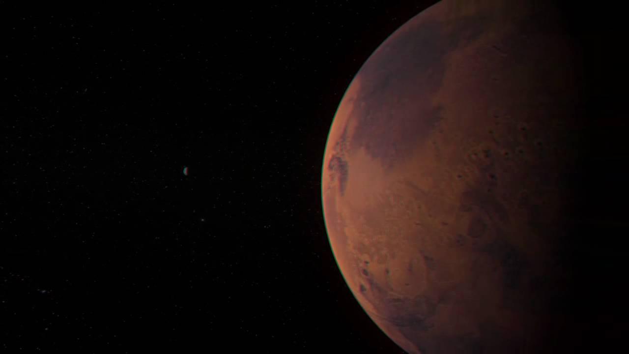 Eine Reise durch das Sonnensystem in 3D (Rot/Cyan-Version)