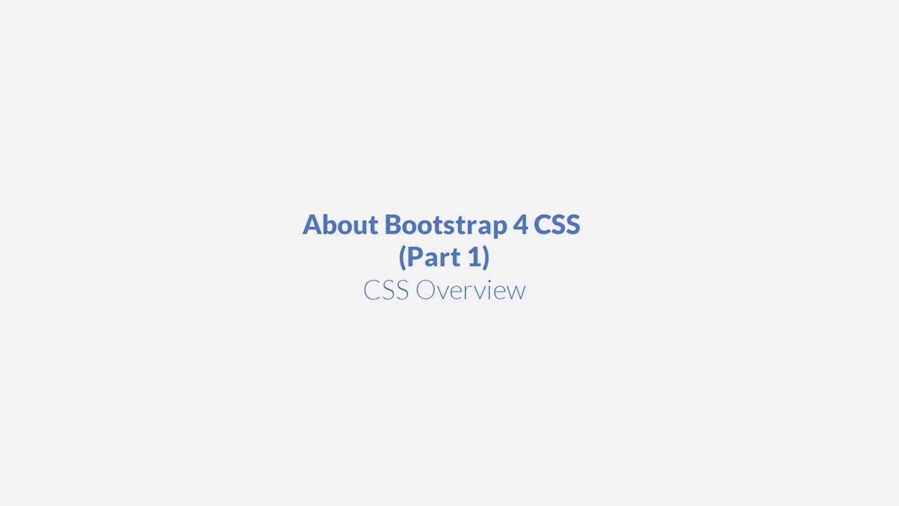 Bootstrap 4 CSS Tutorial (Part 1) - Designmodo