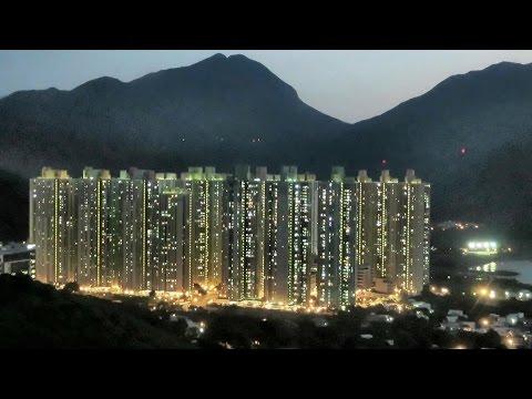 Hong Kong, Lantau Island. Sunset on Yat Tung Estate