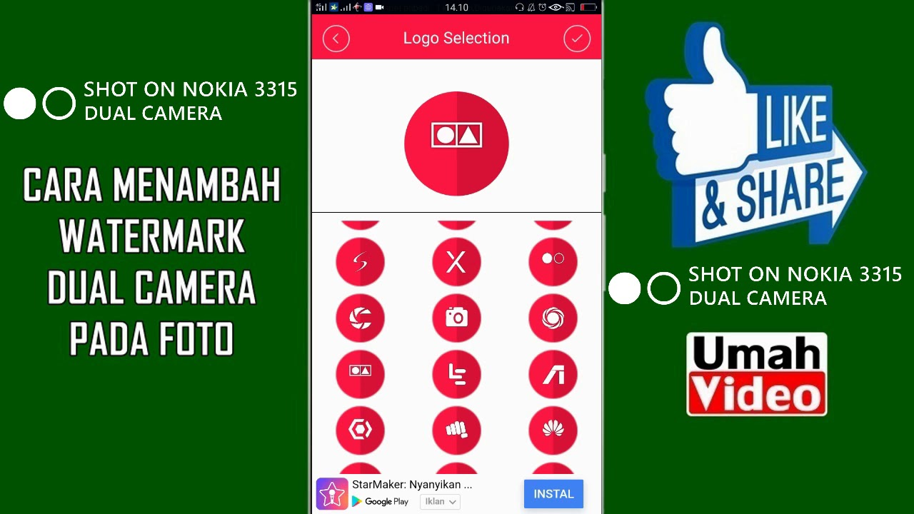 Cara Membuat Logo / Watermark Dual Camera pada Android