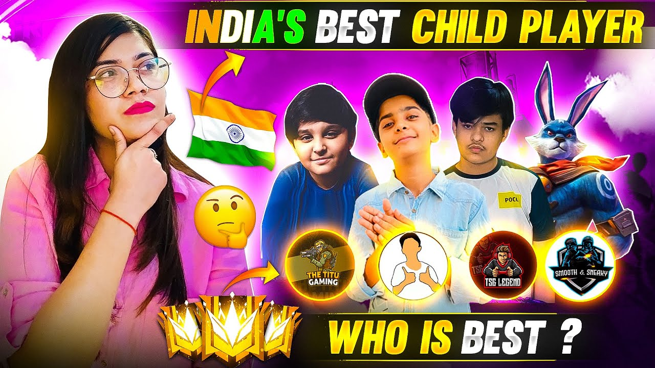 India's Best Child Player #Part1 || Who is Best? || Garena Free Fire || Bindass Laila