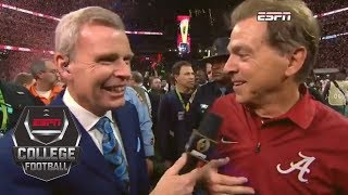 Nick Saban on winning another championship: 'I've never been happier in my life' | ESPN